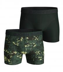 BOXERKY BJÖRN BORG DIGITAL WOODLAND COTTON STRETCH SHORTS 2-PACK ZELENÉ